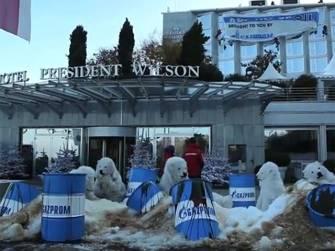 энергетическая конференция в Женеве и активисты Greenpeace